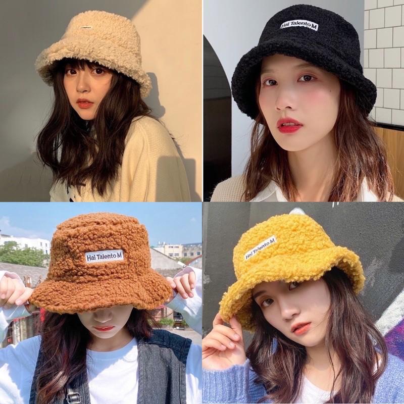 Mũ len lông cừu LYNS nón bucket chất liệu phong cách ulzzang cá tính dễ phối đồ.