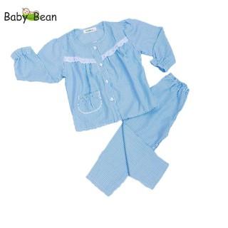 Đồ Bộ Cotton Sọc Dài Phối Ren bé gái BabyBean