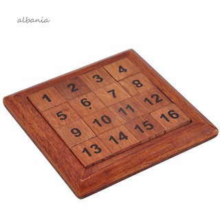 ❀AL❀Classic Number 1-16 IQ Brain Teaser Logic Wooden Puzzles Game Table Math Toy