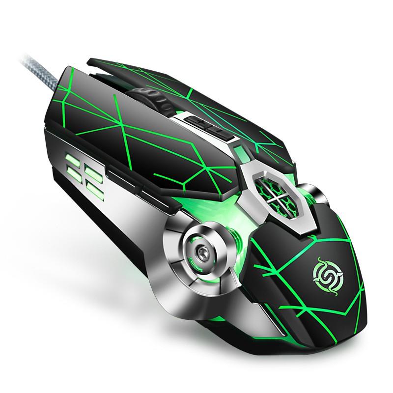 Chuột chơi game cao cấp K-SNAKE Q7 Led RGB Tự Đổi Màu