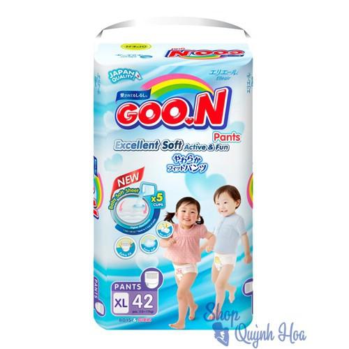 Bỉm quần Goon Slim Thái size XL42 (42 miếng - dành cho bé từ 12kg đến 17kg).