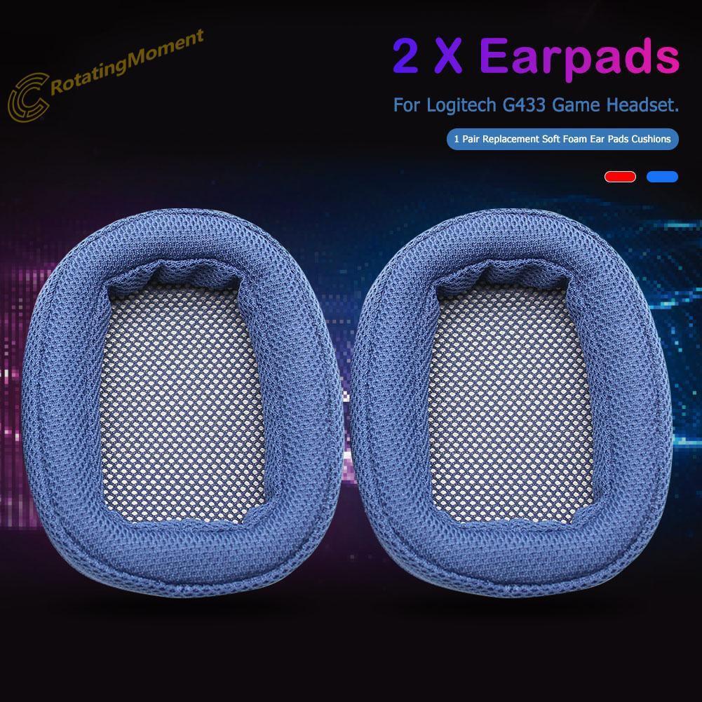 1 Pair Replacement Soft Foam Ear Pads Cushions for Logitech G433 Headphones
