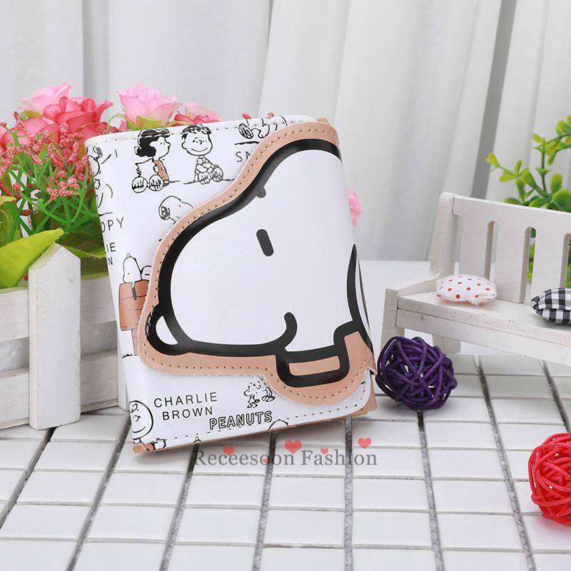 Ví ngắn bỏ túi in hình Snoopy dễ thương cho nữ