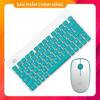 Bộ Bàn Phím Chuột Không Dây Mini Forter F-1500 Giảm Âm Cho Máy Tính Để Bàn Văn Phòng PC Laptop Màu Hồng / Xanh / Đỏ /Đen