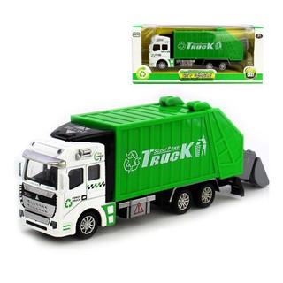 Xe ô tô chở rác đồ chơi trẻ em tỉ lệ 1:48 chạy cót