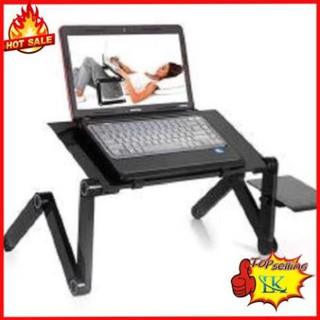 Bàn Laptop T8 360 Đa Năng Bàn Lap top ngồi giường có quạt tản nhiệt (Màu Đen )