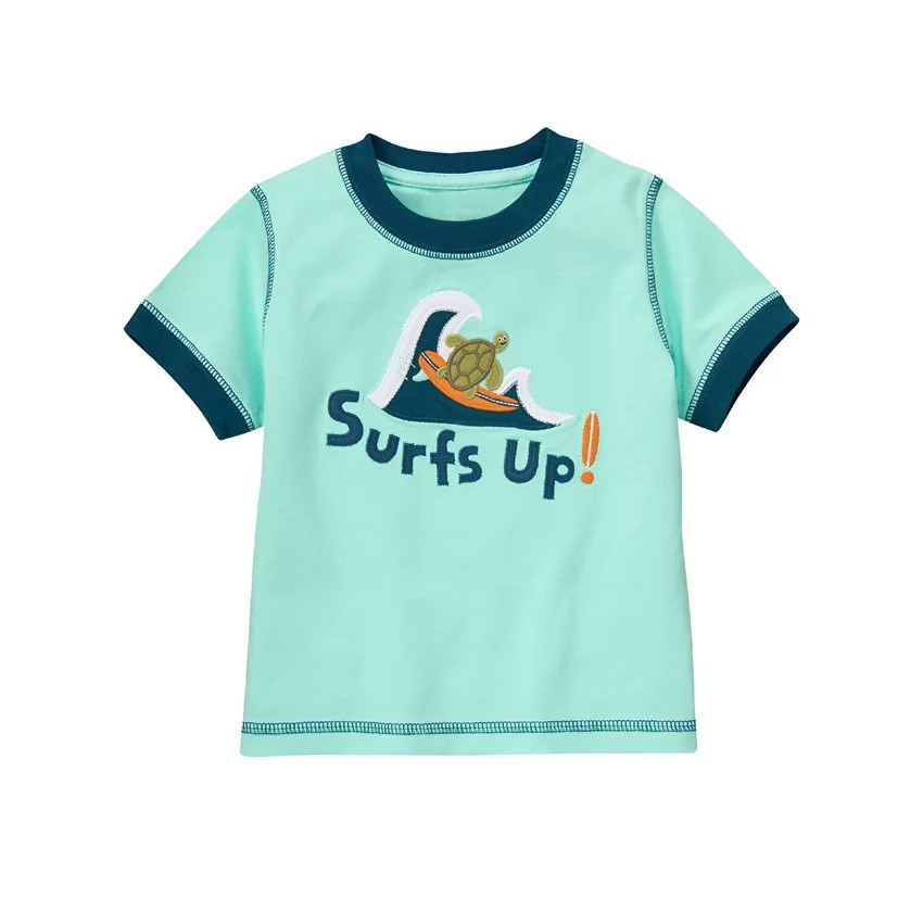 Áo phông bé trai Gymboree Surf's Up Sea Turtle Tee (Xanh ...