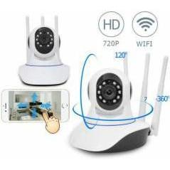 Camera ip wifi 3 anten phiên bản mới rõ nét- điều khiển từ xa bằng điện thoại