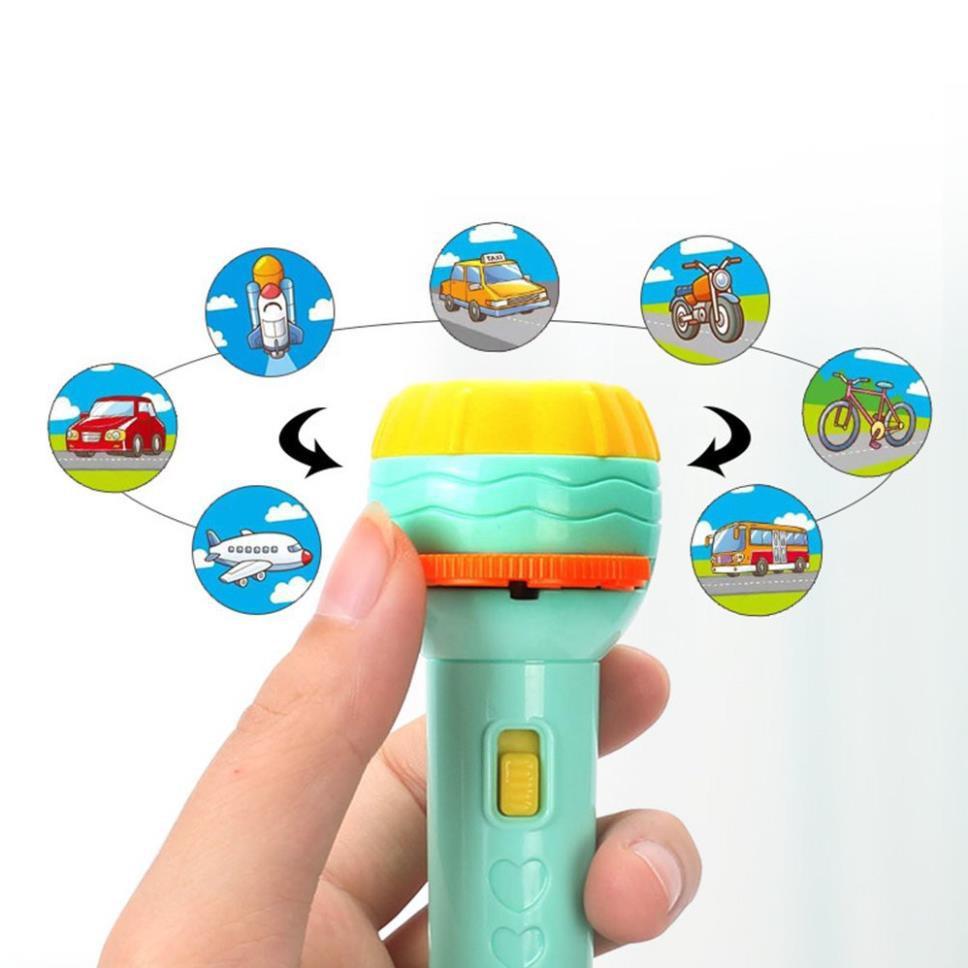 GD384 đồ chơi đèn pin chiếu hình cho bé ( gia dụng thông minh ) ( Gia dụng )