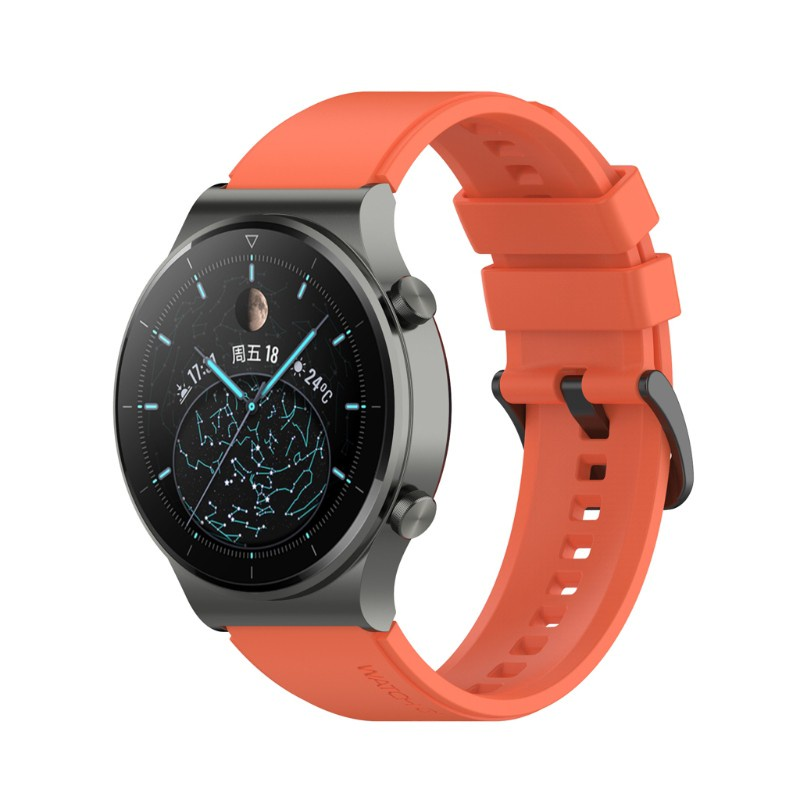 Dây Đeo Tay Thay Thế Bằng Cao Su Silicon 22mm Cho Đồng Hồ Huawei Watch Gt2 Pro
