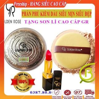 [ FreeShip – MUA 1 TẶNG 1 ] Phấn phủ kiềm dầu siêu mịn siêu đẹp đa năng cao cấp/ Phấn phủ nén tốt golden rose