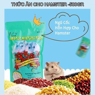 Thức ăn ngũ cốc hỗn hợp cho hamster 500gr rau củ quả tăng cường dinh dưỡng tự nhiên thumbnail
