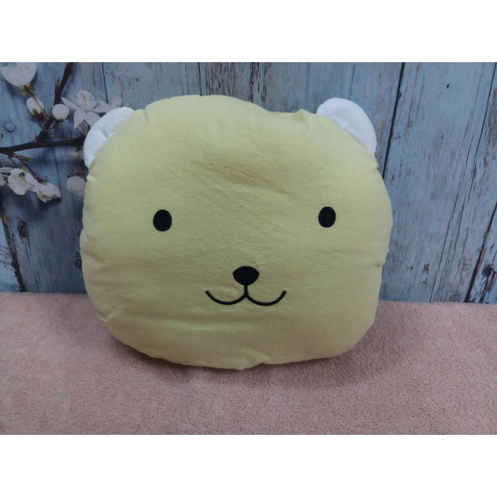Gối vải mặt gấu cho bé _ màu vàng