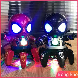 Marvel Spider-Man Doll Electric Action Figure Dancing Robot Toy with Music Light for Kids