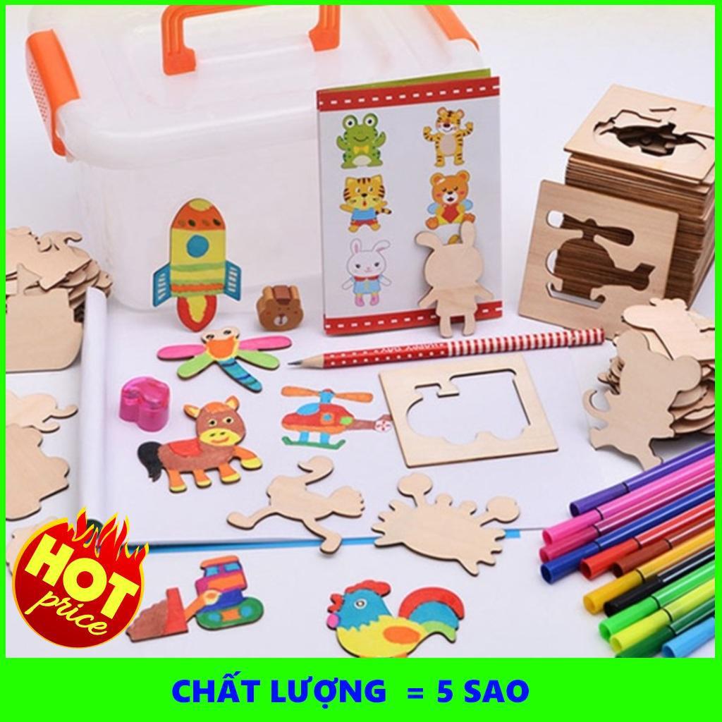 {Cầu Diễn} Bộ khung tập vẽ và tô màu cho bé