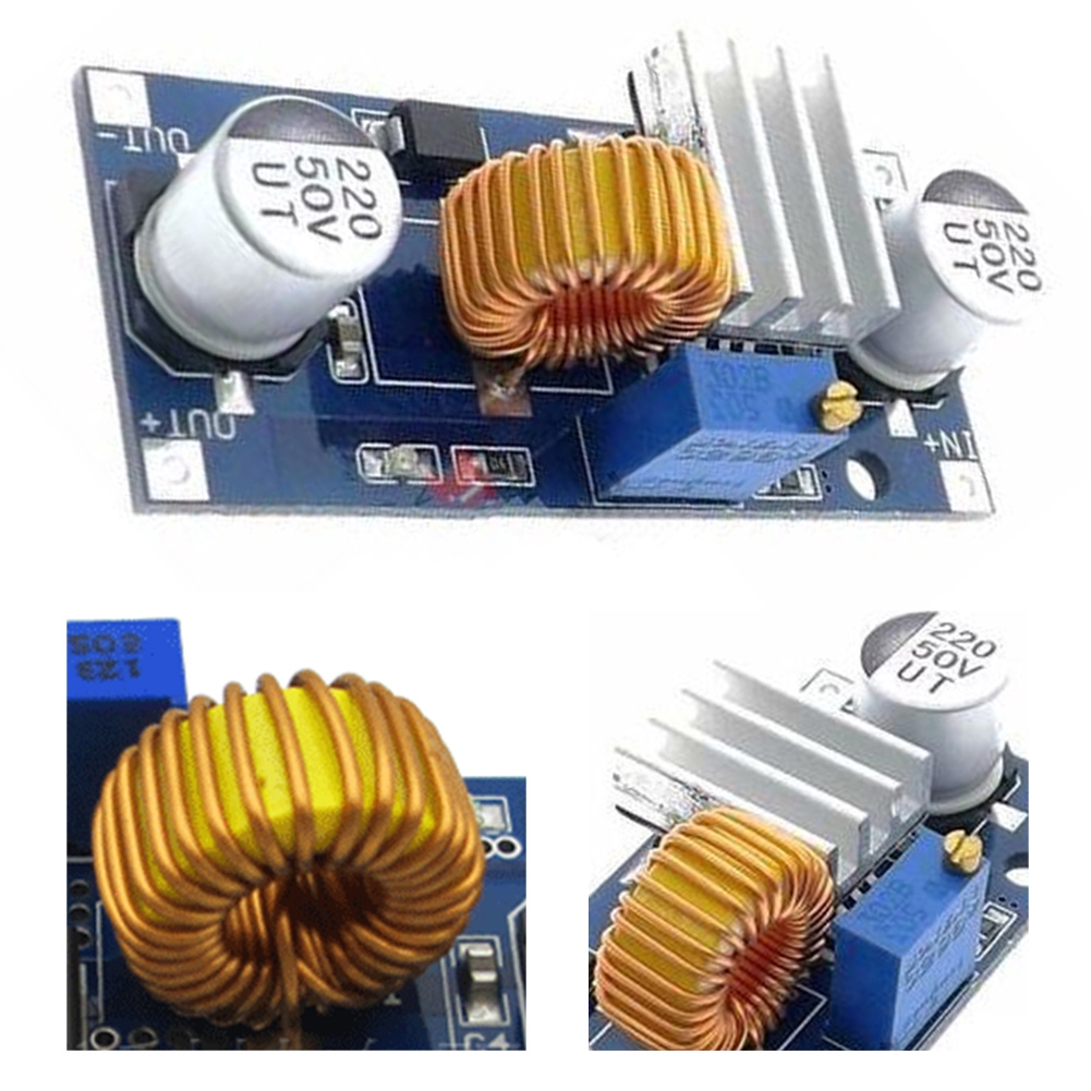 5A DC-DC Step Down Adjustable Power Supply Module Lithium Charger XL4015 4~38V 96% DC adjustable step-down module Giá chỉ 29.000₫