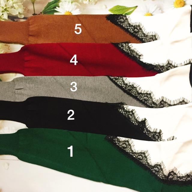 Áo len ren yếm hàng Quảng Châu ( shop chụp thật 100%)