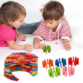 Bộ 120 khối domino bằng gỗ dành cho bé