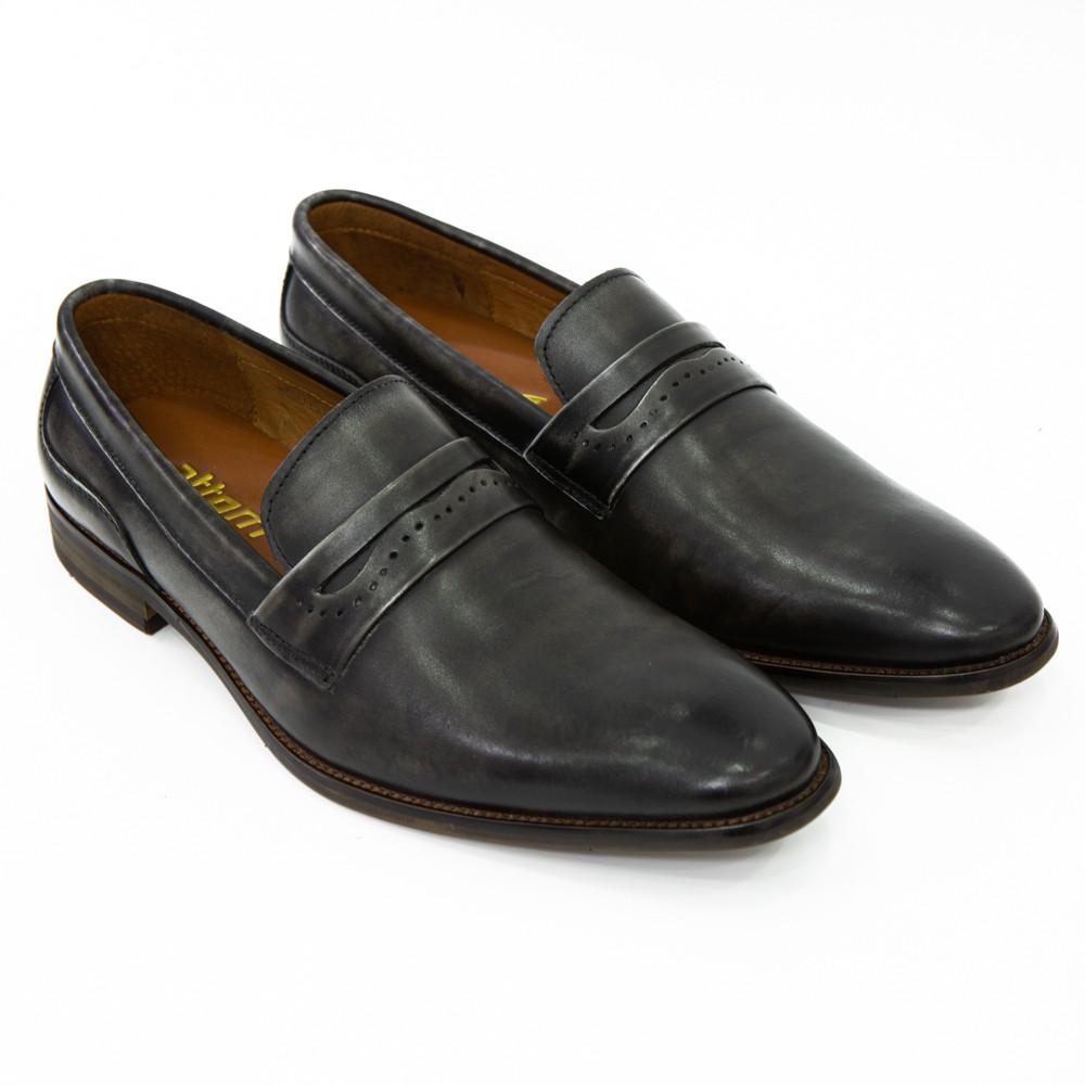 Giày Tây Nam ATTOM Da Bò Cao Cấp Mẫu Giày Patina Trơn Đơn Giản - MSP : AM30151