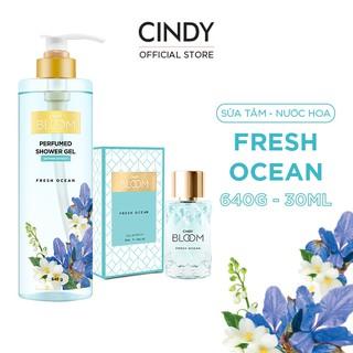 Combo Sữa Tắm Nước Hoa 640g & Nước Hoa 30ml Cindy Bloom Fresh Ocean thumbnail