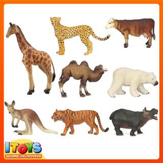 Mô hình con vật 9cm, đồ chơi mô hình con vật giúp trẻ nhận biết con vật. ITOYS