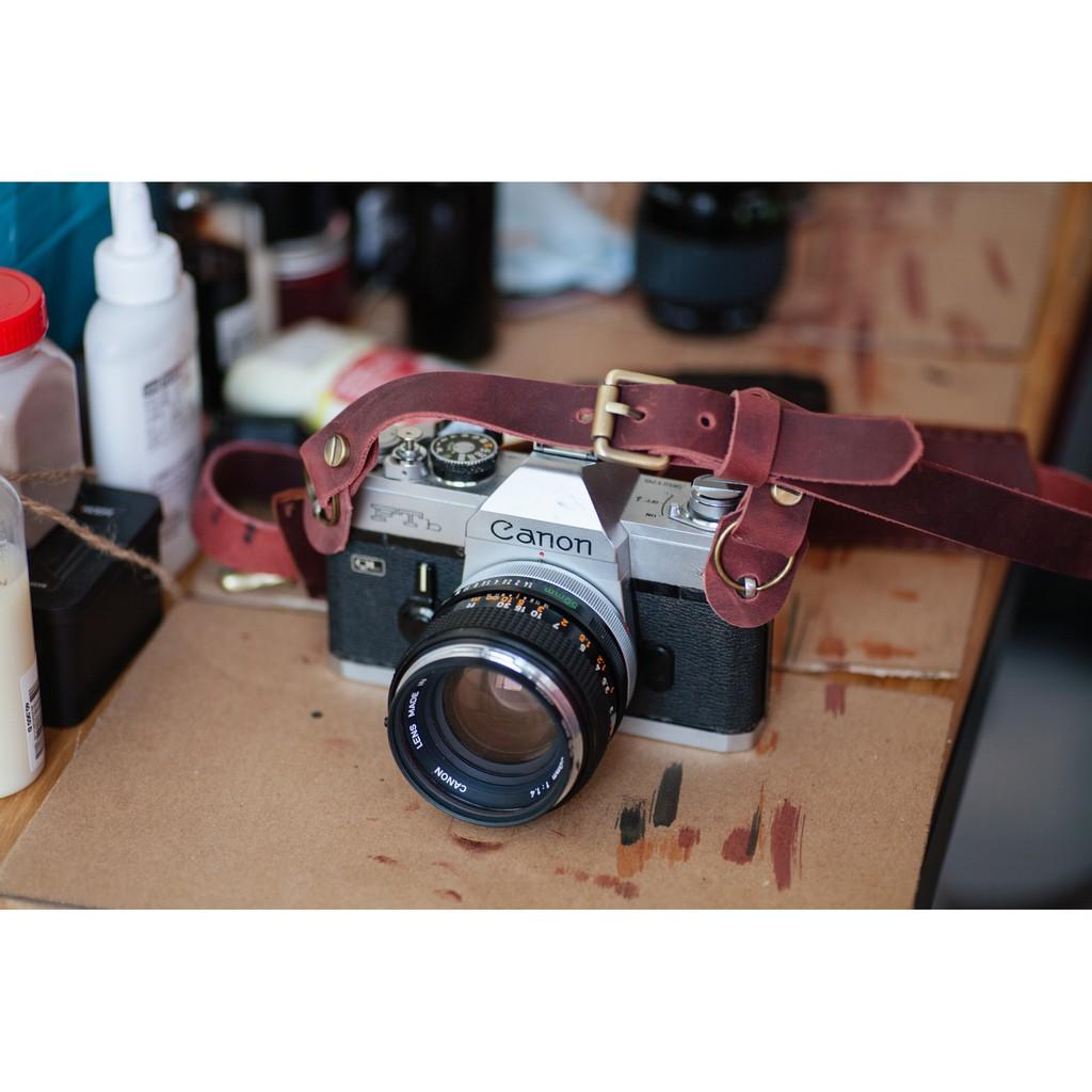 Leather Strap Camera Crazy Horse
