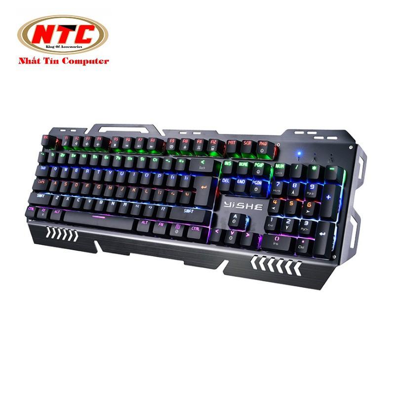 Bàn phím cơ cao cấp Yishe YS-K700 Led RGB đa màu (Đen) - 2547708 , 422309683 , 322_422309683 , 768000 , Ban-phim-co-cao-cap-Yishe-YS-K700-Led-RGB-da-mau-Den-322_422309683 , shopee.vn , Bàn phím cơ cao cấp Yishe YS-K700 Led RGB đa màu (Đen)