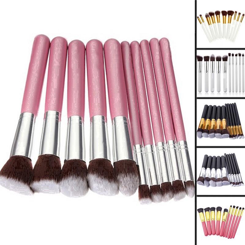 1 Set of Professional 10pcs Makeup Brushes