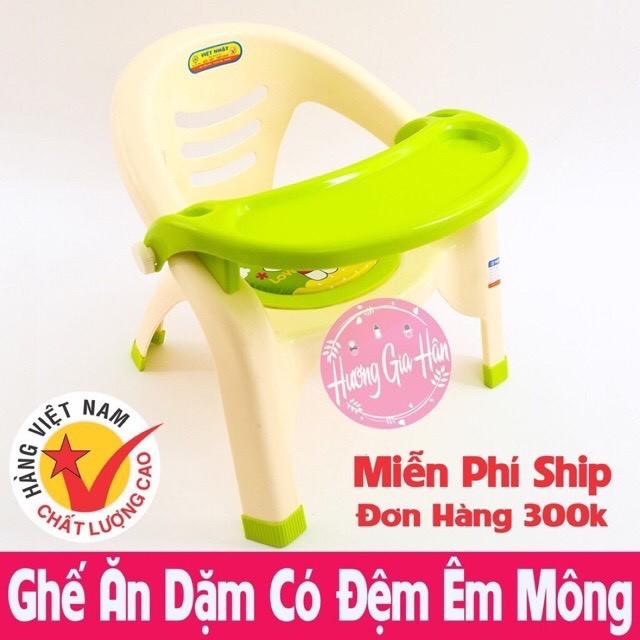 Ghế ăn dặm , ghế bô Việt Nhật có đệm hơi êm mông nhựa pe an toàn dùng cho bé 3-36 tháng