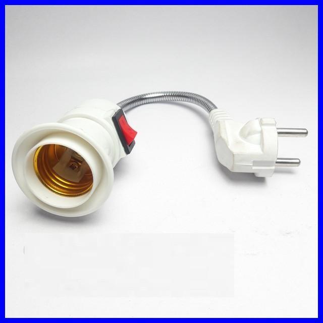 Đuôi đèn E27 dây lò xo có công tắc -VMH