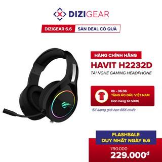 [DIZIGEAR 6.6 - SĂN DEAL CÓ QUÀ] Tai Nghe Gaming Headphone HAVIT H2232D, Led RGB, Mic Khử Nhiễu - Chính Hãng BH 12 Tháng thumbnail