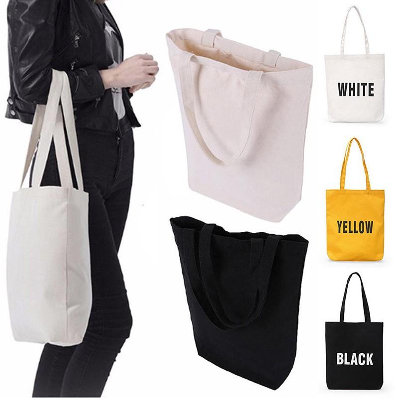 DIY  Women Girls Handbag Canvas Tote bags Reusable Cotton Shopping Bag