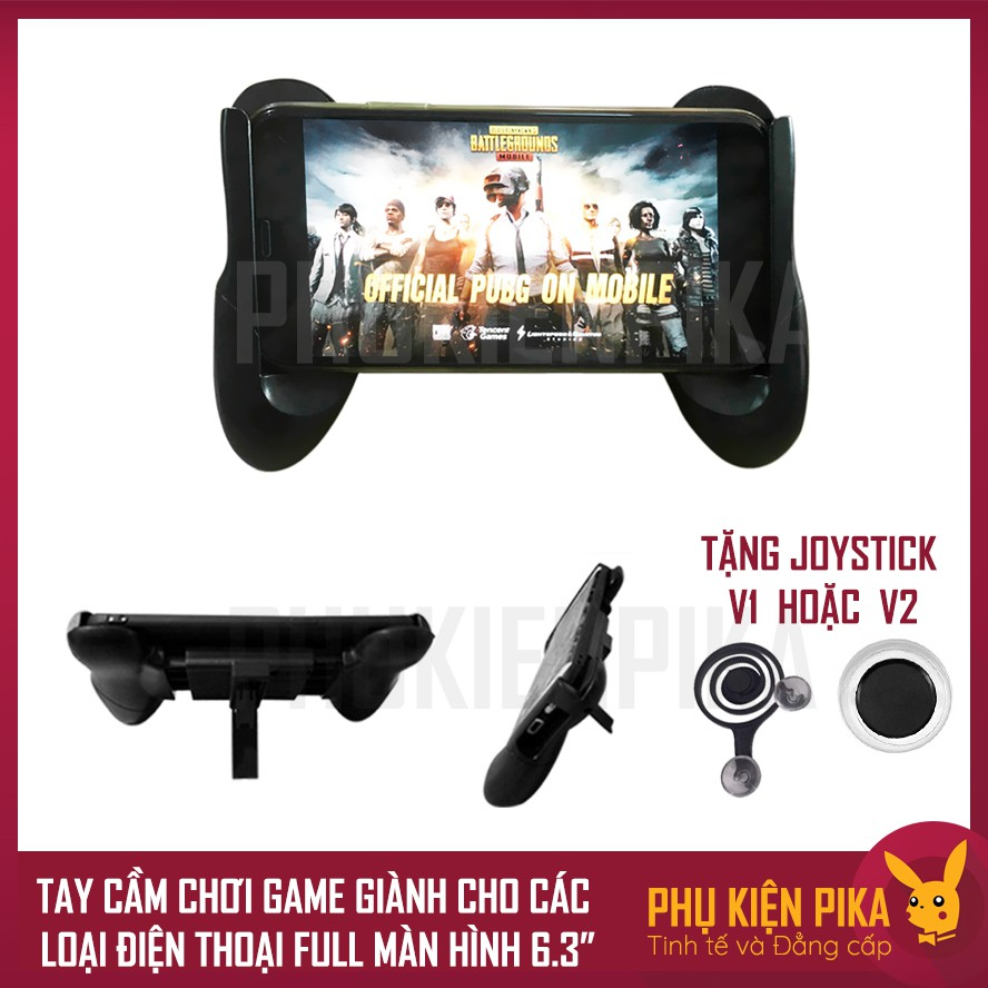 Tay cầm chơi game dành cho điện thoại K18 full màn hình từ 4.7 - 6.3 inch Tặng kèm Joystick điện tho
