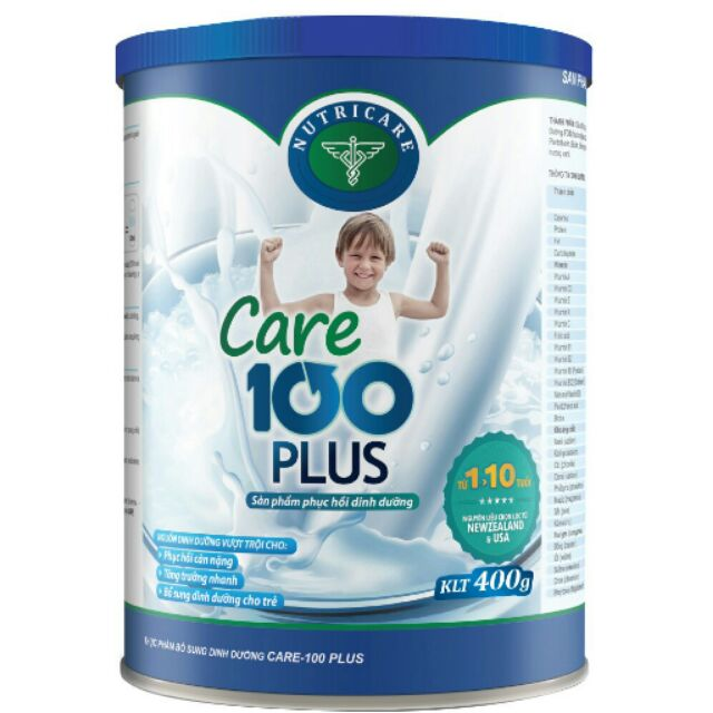 Sữa bột Nutricare Care 100 Plus lon 400g date 05/2019