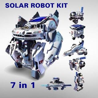 [Mã TOYNOV hoàn 20K xu đơn 50K] Bộ lắp ráp năng lượng mặt trời Robot không gian 7 in 1