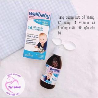 Vitamin Tổng Hợp Wellbaby Cho Bé 150ml, Wellbaby 14 Vitamin Tăng Sức Đề Kháng Cho Bé