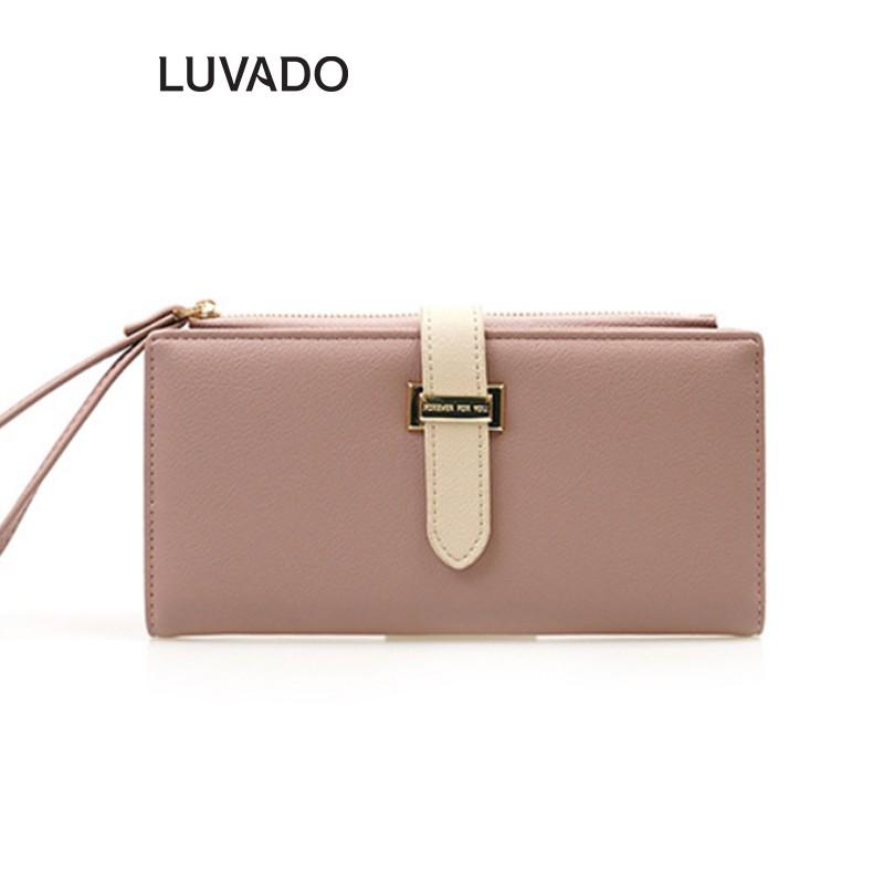 Ví nữ dáng dài cầm tay cao cấp FOREVER FOR YOU nhiều ngăn thời trang đựng tiền đẹp LUVADO VD342