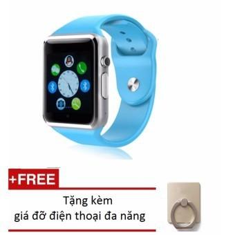 Đồng hồ thông minh Smart Watch AW08 gắn sim độc lập (Xanh dương) + Tặng giá đỡ vòng tay thông minh m
