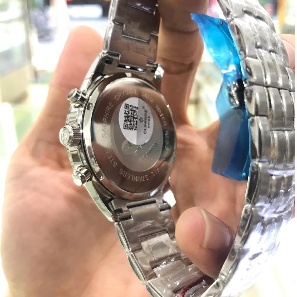 Đồng hồ nam SUNRISE 1166SA trắngThể thao, full hộp thẻ chính hãng, Kính Sapphire chố