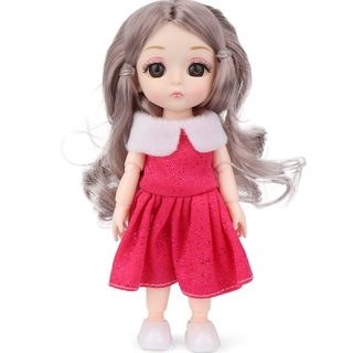 Hot Princess Doll Cute Mini Dolls Accessories 16cm Dolls Gift for Children Girls