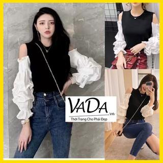 Áo thun kiểu khoét vai phối tay phồng, phong cách mới trẻ trung tươi tắn hàng đẹp mà giá rẻ tại Thời Trang VADA - AT0079 thumbnail