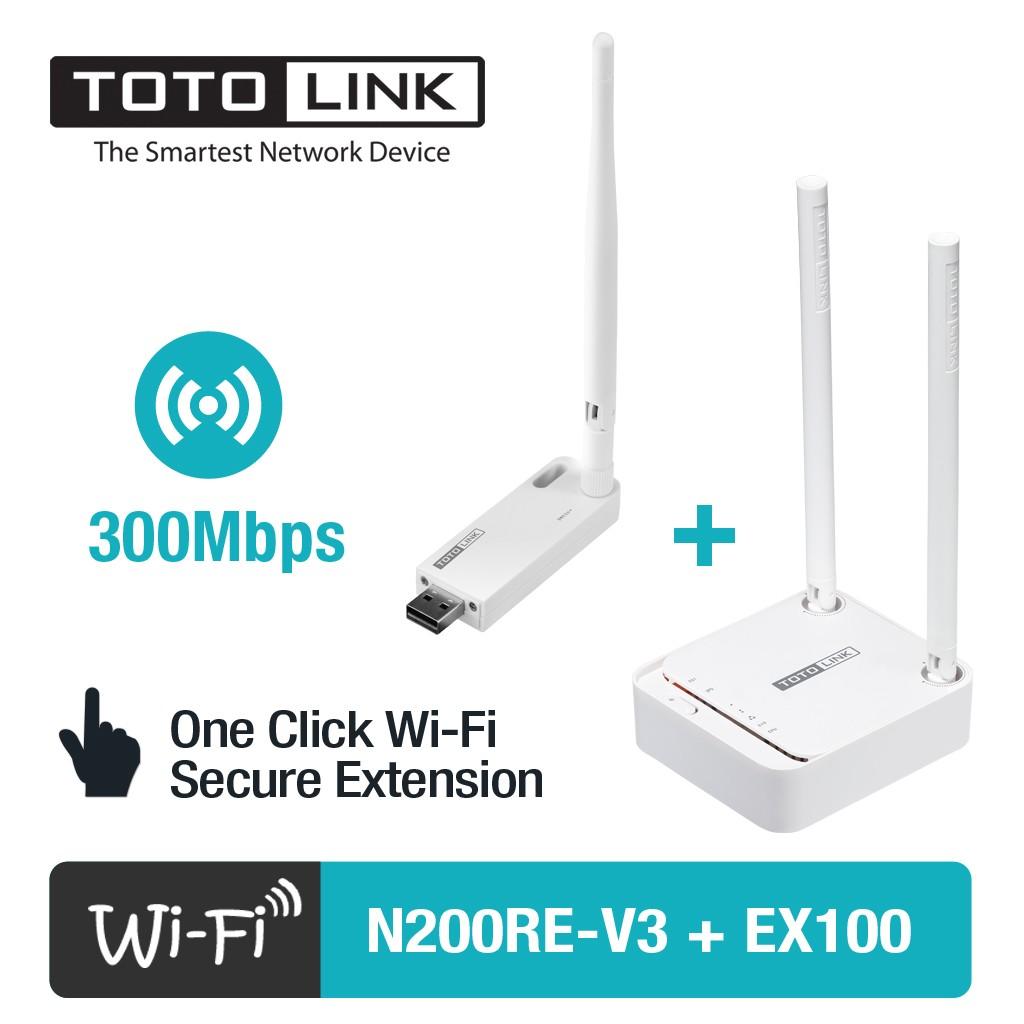 [FREE SHIP] Bộ Phát WiFi TOTOLINK N200RE-v3 & Kích sóng WiFi TOTOLINK EX100 - 3043845 , 215463725 , 322_215463725 , 369000 , FREE-SHIP-Bo-Phat-WiFi-TOTOLINK-N200RE-v3-Kich-song-WiFi-TOTOLINK-EX100-322_215463725 , shopee.vn , [FREE SHIP] Bộ Phát WiFi TOTOLINK N200RE-v3 & Kích sóng WiFi TOTOLINK EX100