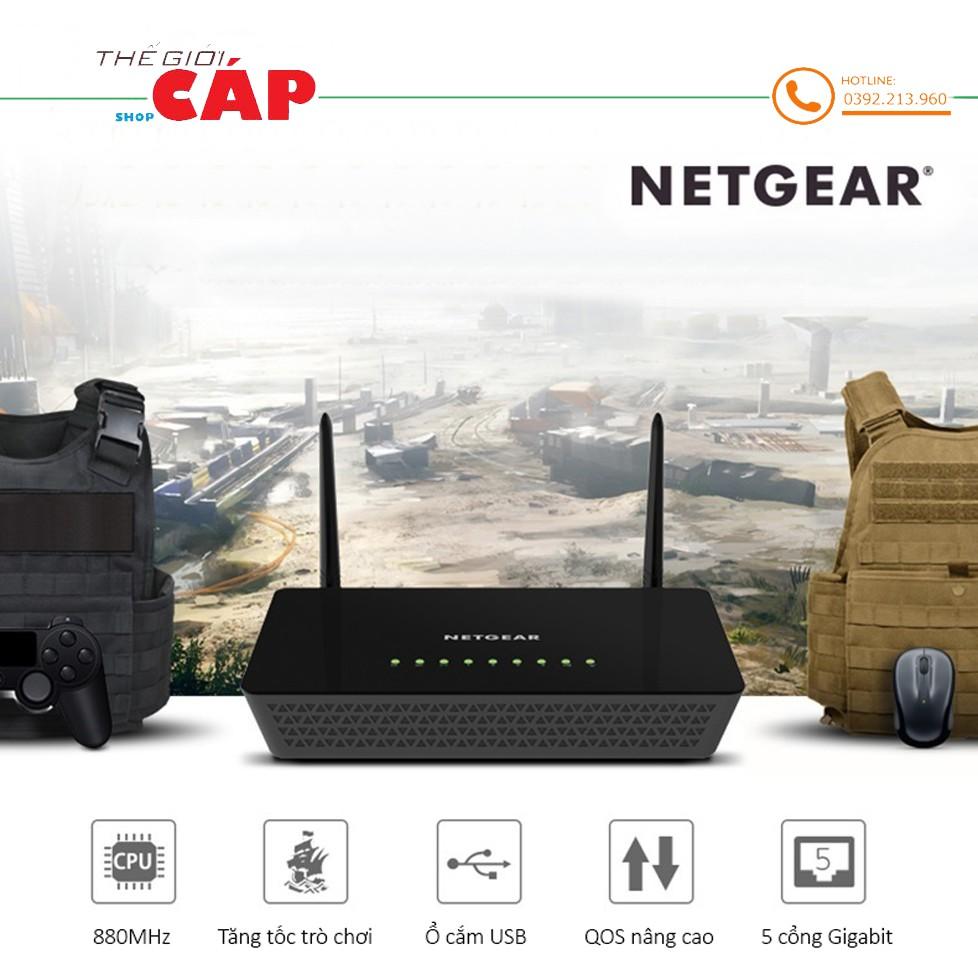 Bộ Phát Sóng Wifi Router NETGEAR R6220 Chuẩn AC 1200 Mbps 2.4G & 5G