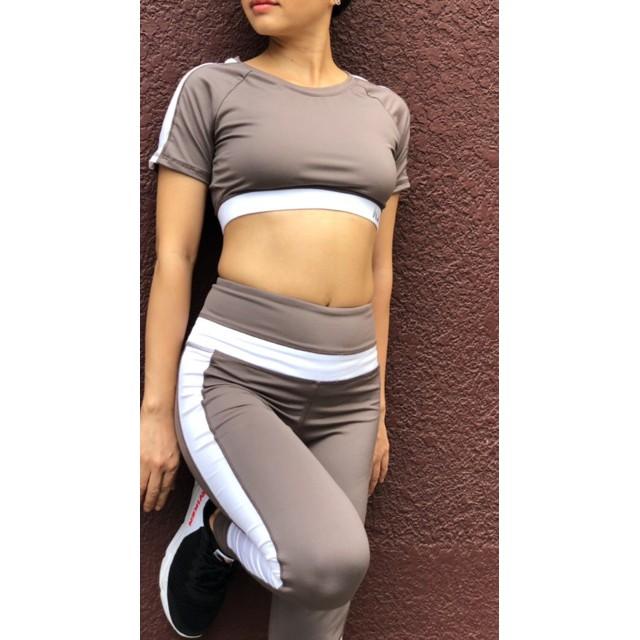 Bộ Đồ Tập Nữ Quần Dài Áo Croptop Có Mút -Set quần dài & áo croptop tập gym