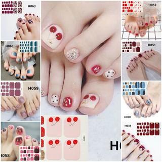 Bộ 22 Miếng Dán Móng Chân Sticker Nails - Chống Nước thumbnail