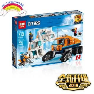 Bộ Lepin CITIES_02110 – Xe Vượt Địa Hình Bắc Cực (LEGO 60194 Arctic Scout Truck