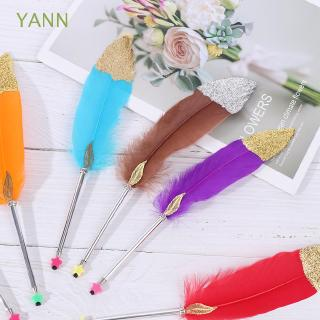 YANN 0.5mm Novelty Christmas Gift Stationery School Office Supplies Writing Tool Colorful Feather