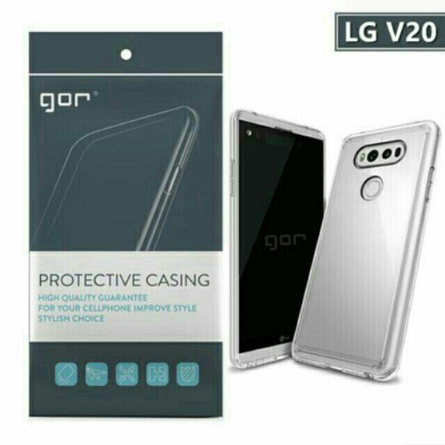 ốp lưng v20- Ốp lưng siêu mỏng trong suốt chính hãng Gor cho LG V20