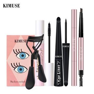 KIMUSE Double-head Waterproof Eyebrow Pencil+Volum Express Mascara+ Liquid Eyeliner+ Eyelash Curler 4PCS set 110g thumbnail