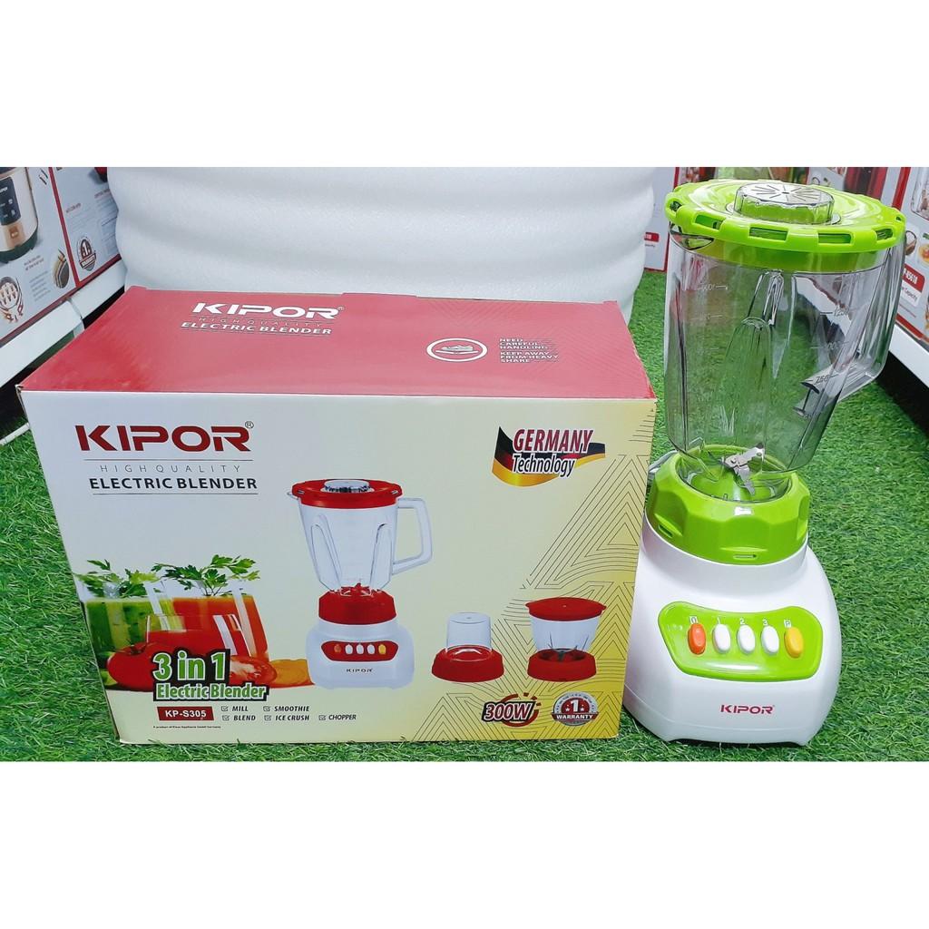 Máy xay sinh tố Kipor KP-S305, KP-S301 và KP-S631, 3 cối nhựa, BH chính hãng 12 tháng